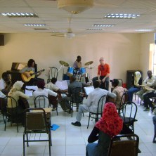 Flamenco workshop. Khartoum (Sudan). December 2008